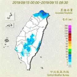 嘉義以南山區 小心短時強降雨