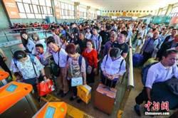 陸鐵路今返程客流高峰 預估旅客1172萬人次