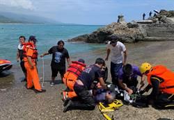 台東釣客落海 海巡消防救援仍不治