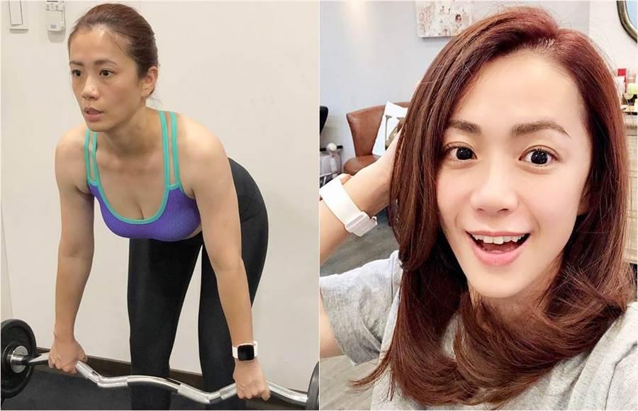 女星柯以柔近來體重上升,讓她驚覺啟動運動節食計畫,成功在四個月瘦下8公斤。(合成圖/翻攝自柯以柔IG)