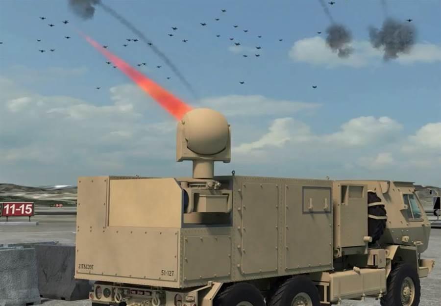 美軍第5層防禦的雷射砲,與第2層的不同在於功率更大,也需要較大的車。(圖/美國陸軍)