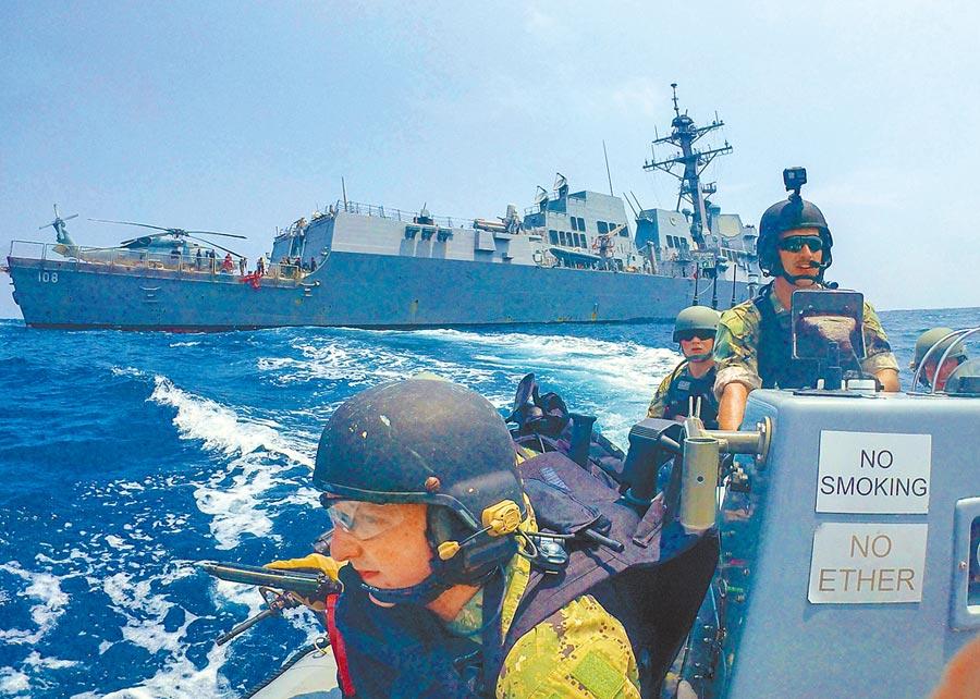 美國飛彈驅逐艦邁耶號5日在泰國海灣參與演習。(取自美國海軍官網)