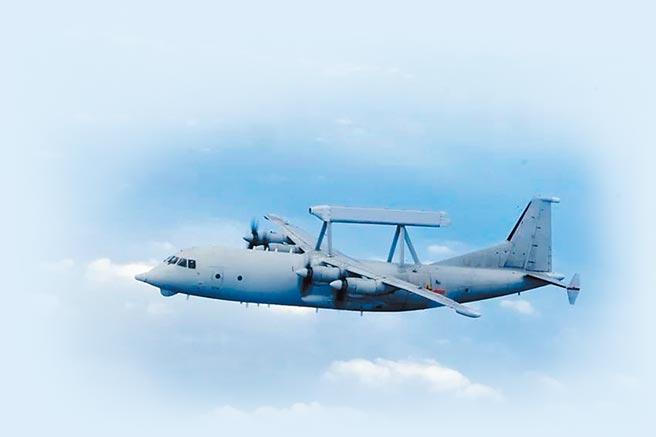 空警-200背負著「平衡木」相控陣列雷達。(取自中國軍網)