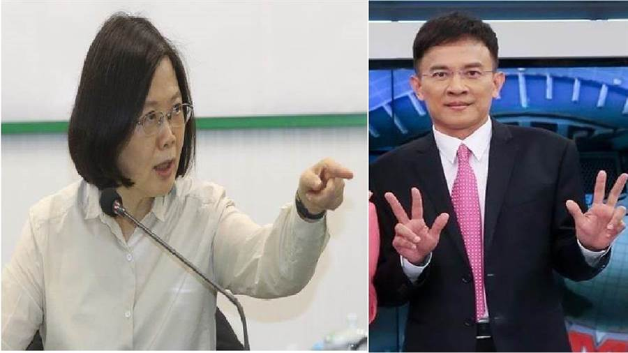 總統蔡英文(左)、政論節目主持人彭文正(右)。(圖/合成圖,本報資料照)