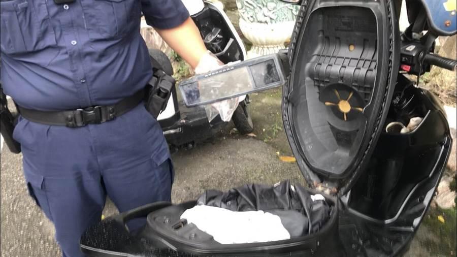 男子偷救護車行車紀錄器被逮。(平鎮警分局提供/呂筱蟬桃園傳真)