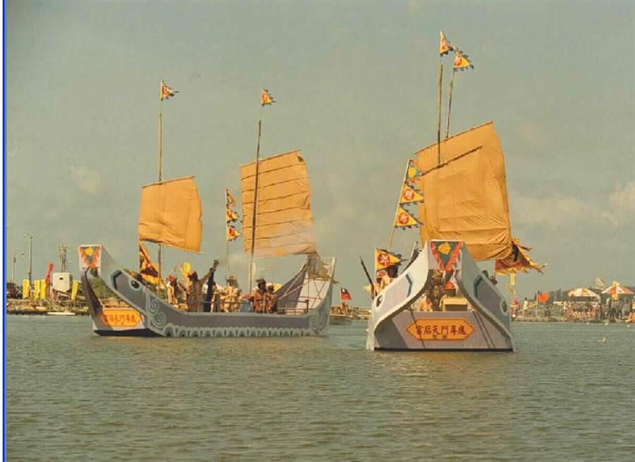 台南市鹿耳門天后宮,曾在文化季的活動中,演出民族英雄鄭成功率軍登陸鹿耳門故事。(本報系資料照片)