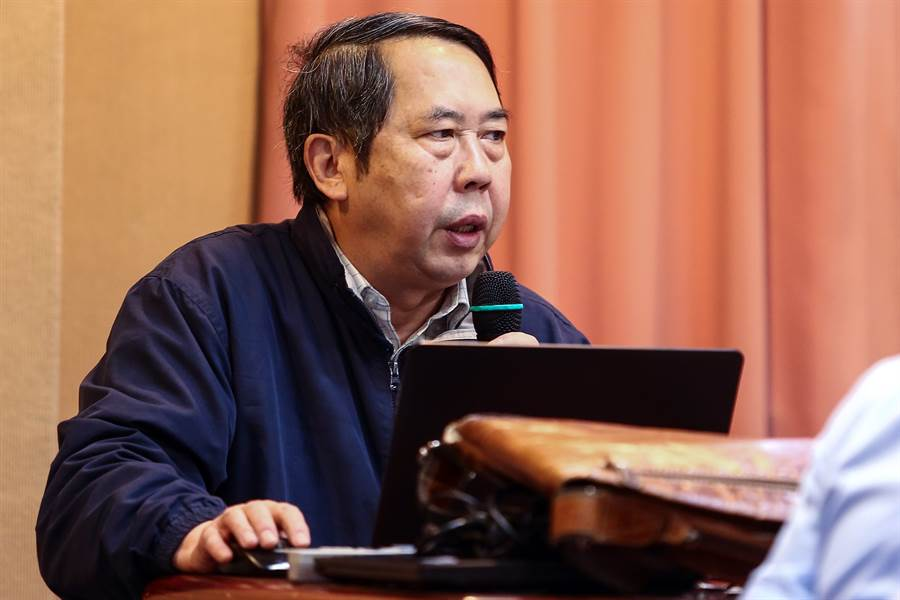 中國人民大學國際關係學院教授時殷弘去年受政治大學東亞研究所之邀來台演講,分析中美關係。(圖/鄧博仁攝)