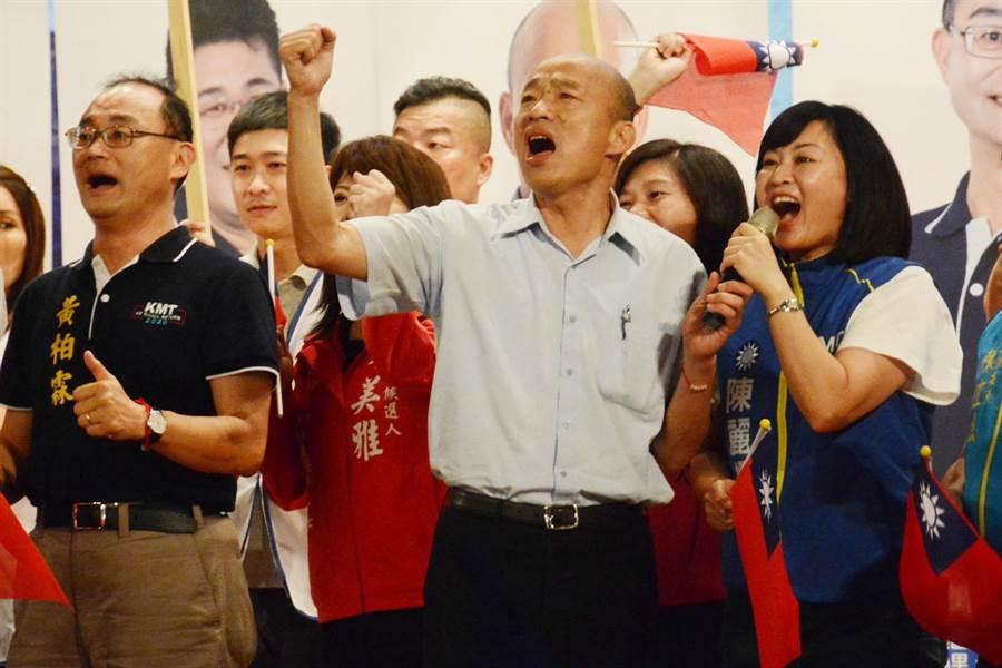 對於郭台銘宣布不參選2020,韓國瑜競選辦公室表示,未來仍會盡力爭取郭董支持。(林宏聰攝)