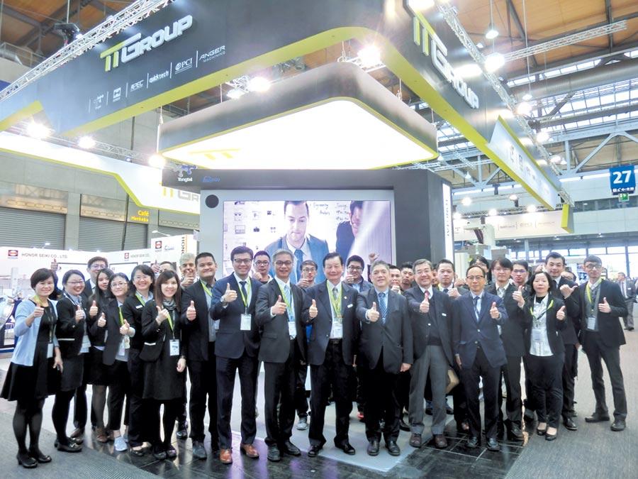 東台集團董事長嚴瑞雄帶領旗下各子公司負責人與成員赴EMO展搶大單。圖/業者提供