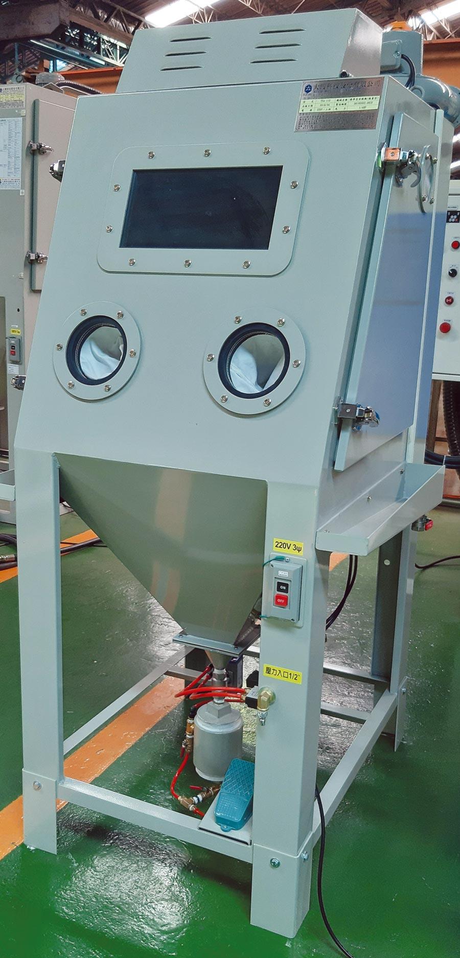大鎪標準型清模機(微量型)適用碳化鎢、壓鑄、擠型等模具清模。圖/黃全興