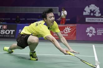 「羽球王子」香港賽闖頭關 下輪拚諶龍