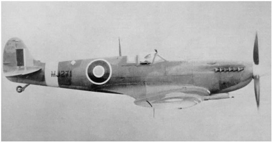 本次執行環球飛行的戰機,為英國皇家空軍原編號MJ-271,於1943年交機,並曾執行過51次作戰任務。(翻攝silverspitfire官網)