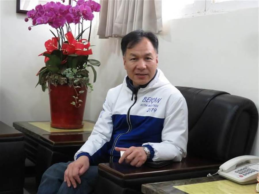 國民黨連江縣長劉增應今(17日)表示,郭台銘宣布不選,對於整體藍軍氣勢相當樂觀,藍軍未來會更加團結。(葉書宏攝)