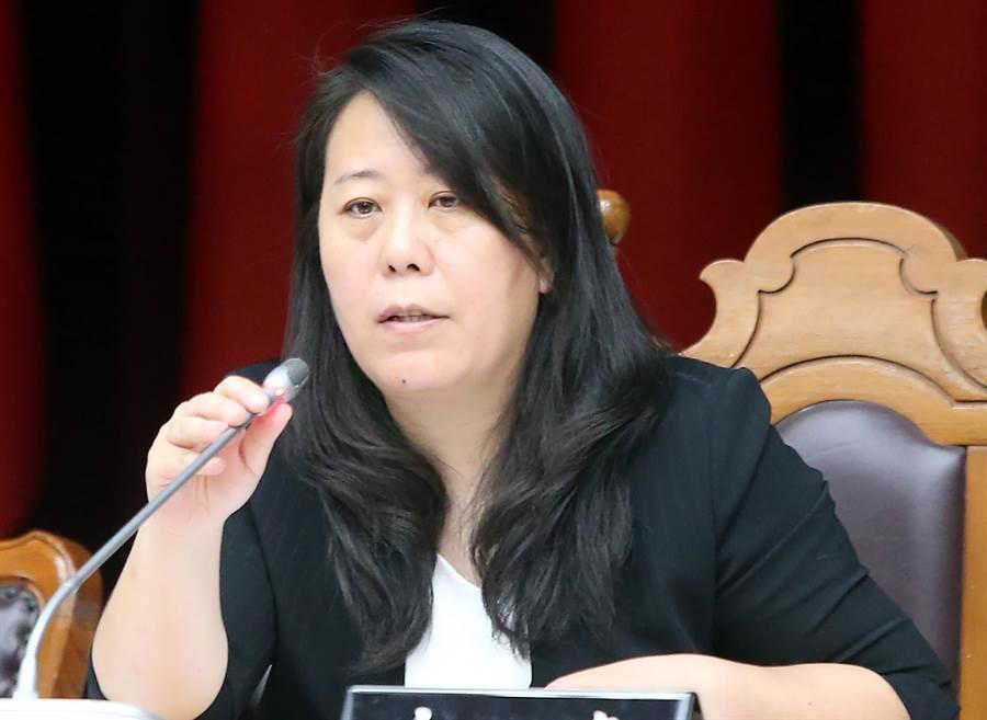 台灣外籍配偶福利發展協會理事長史雪燕主辦公聽會。(趙雙傑攝)