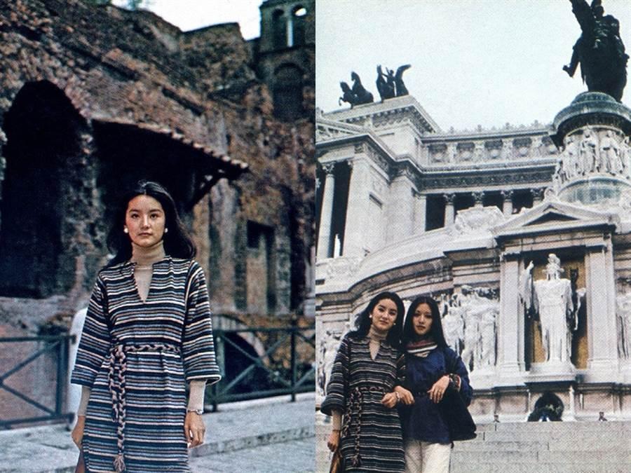 林青霞和胡因夢42年前舊照出土。(圖/微博@人民故事)