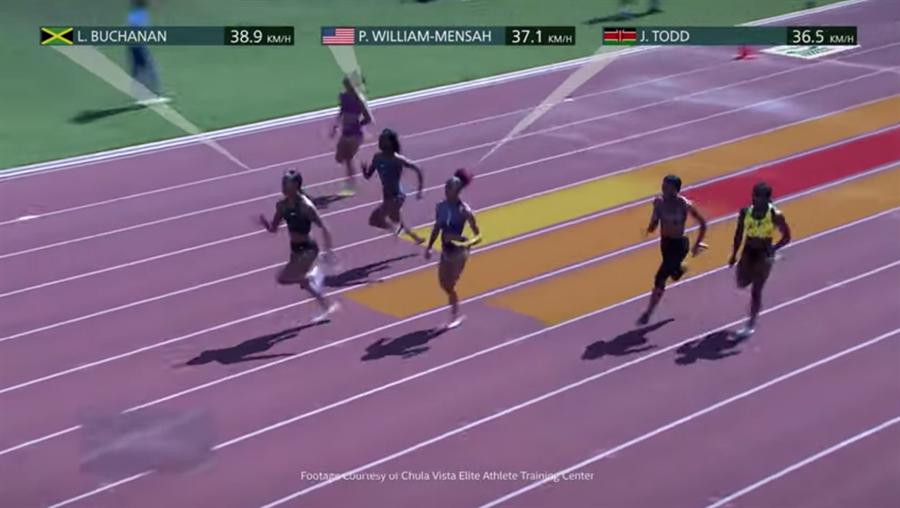 英特爾將在2020東京奧運的100米短跑項目中運用3DAT技術,將運動員的表現以3D動畫呈現在轉播畫面中。(摘自YouTube)
