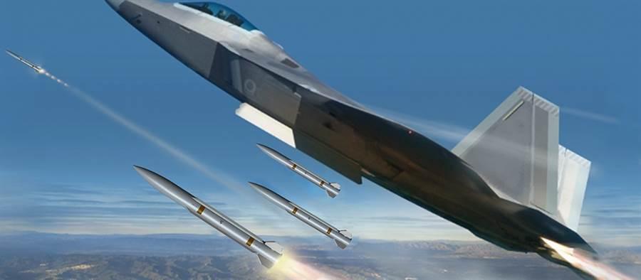 雷神公司公布自費研發的游隼飛彈,體積小,可以使戰機攜彈量更多。(圖/raytheon)