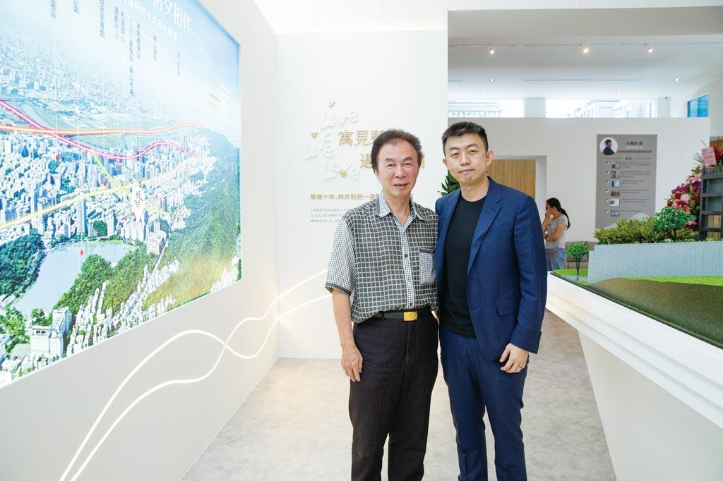 昌鑫建設董事長徐錦泉(左)與總經理徐永昌為內湖在地人,本著回饋鄰里的心,不計成本鑄就「醍湖」。圖/業者提供