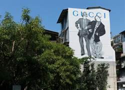 Gucci藝術牆換新裝 永康街復古人像矗立