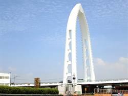 中市水湳新亮點 豎琴斜張橋年底完工