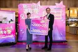 統一時代百貨9大王牌+京站「狂熱周末夜」!周年慶起跑