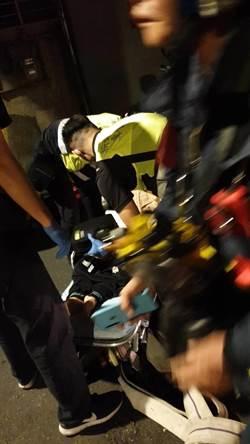 中和公寓火警  警消救出2女命危送醫
