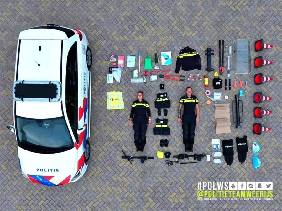 荷蘭警方上傳警車開箱照後,引起世界各國跟風潮 (圖/翻攝自twitter@Copvids911)