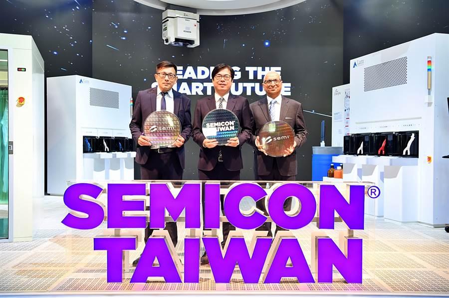 2019國際半導體展(SEMICON Taiwan)18日正式開展,行政院副院長陳其邁(中)出席開幕典禮。(圖/行政院)