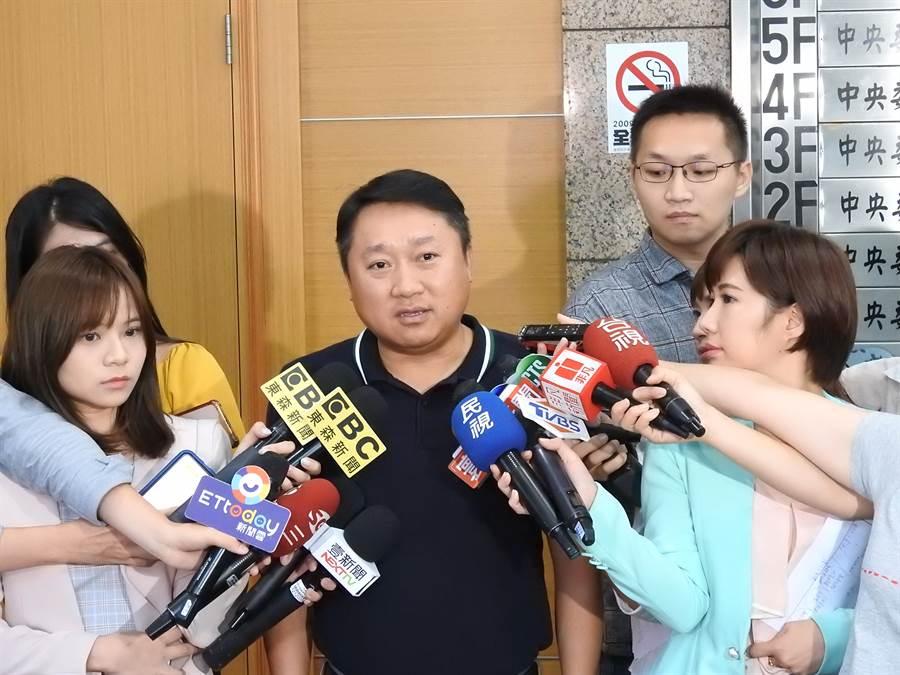 國民黨組發會主委李哲華。(趙婉淳攝)