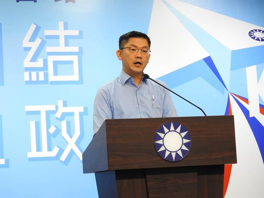 國民黨副發言人黃心華。(趙婉淳攝)