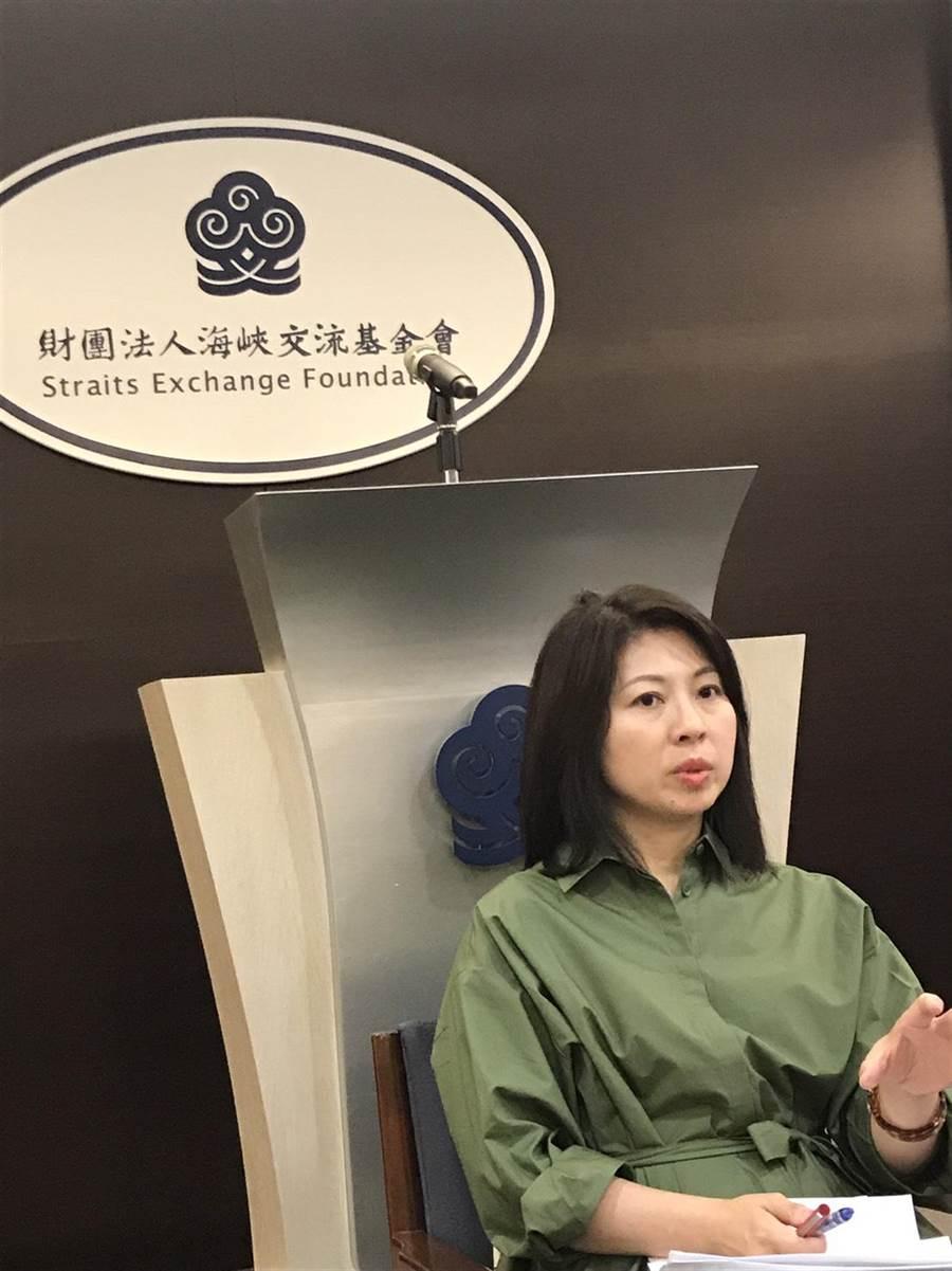 海基會副秘書長蔡孟君(林勁傑攝)