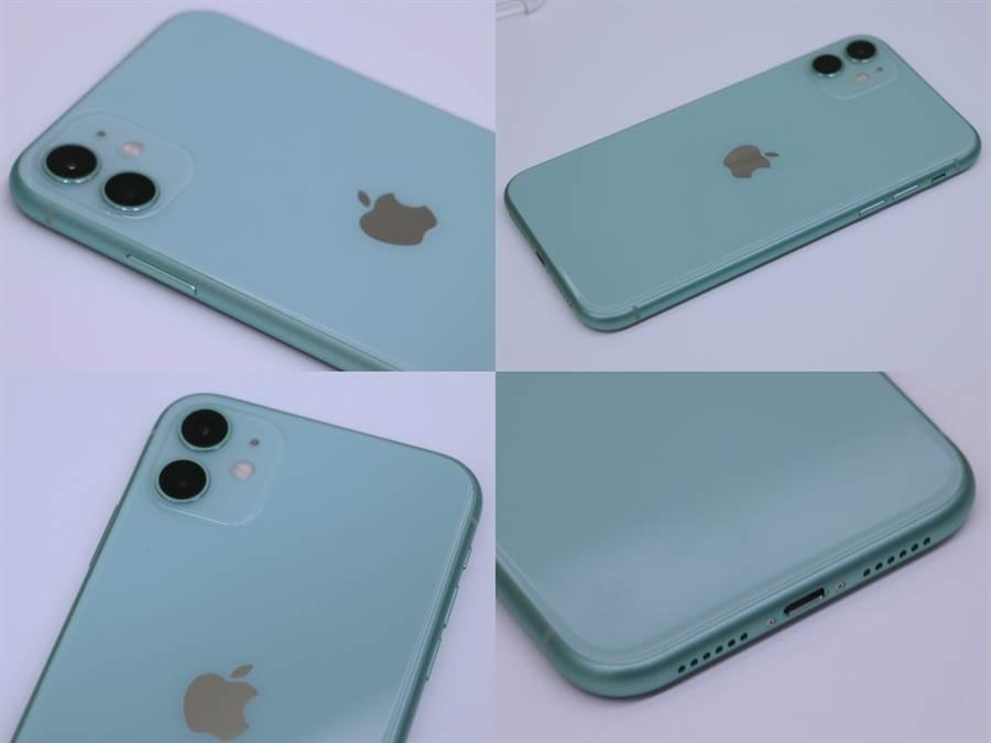 iPhone 11綠色款。(黃慧雯攝)
