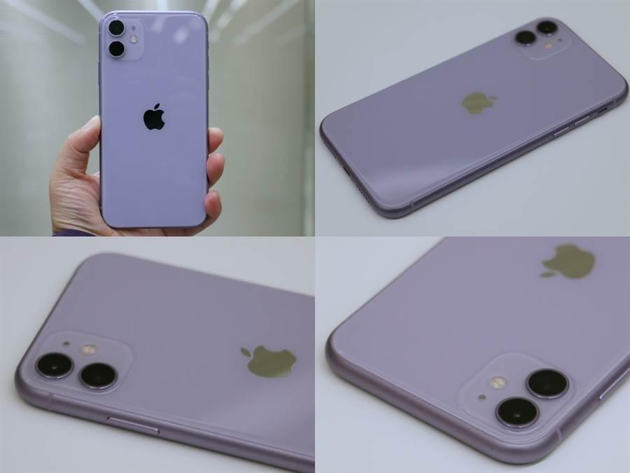 iPhone 11紫色款。(黃慧雯攝)