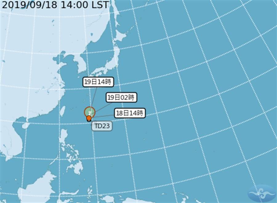 準塔巴雖在整合中,但離台灣實在很近。(圖擷自氣象局)