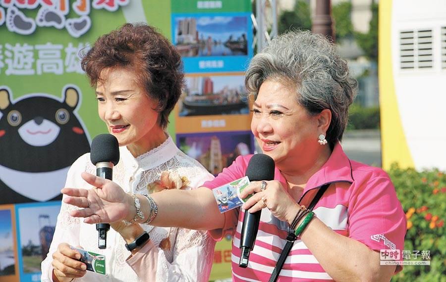 「鳥來嬤」吳敏和資深演員吳靜嫻今年3月擔任高雄市觀光代言人。(照片/《中時電子報》資料照)