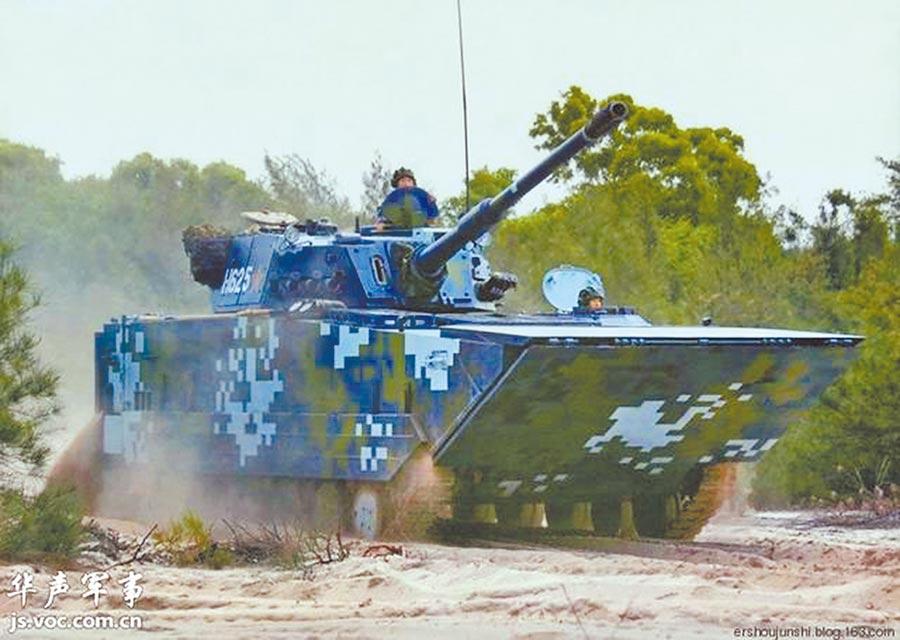 ZTD-05屬於大陸國產05高速兩棲突擊車系列。(取自華聲軍事)