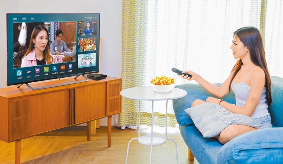 民眾在家觀看電視節目。(本報系資料照片/影音業者提供)