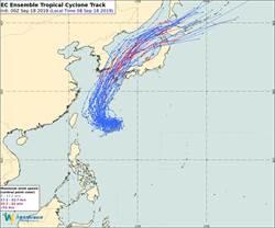準颱風塔巴明後天距台灣最近 北部雨勢較大