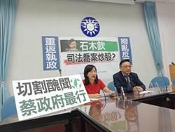 國民黨團質疑原公懲會委員長石木欽 涉嫌司法喬案炒股