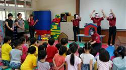「三隻小豬」防災行動劇 巡迴林口幼兒園