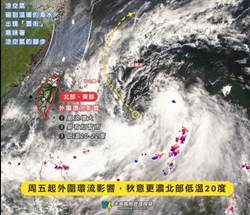 塔巴外環影響 北台灣局部大雨、低溫20度