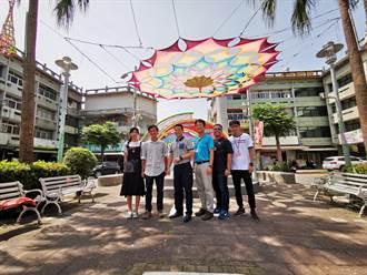 返鄉青年藝術家宋文凱 操刀二水跑水節巨大天幕