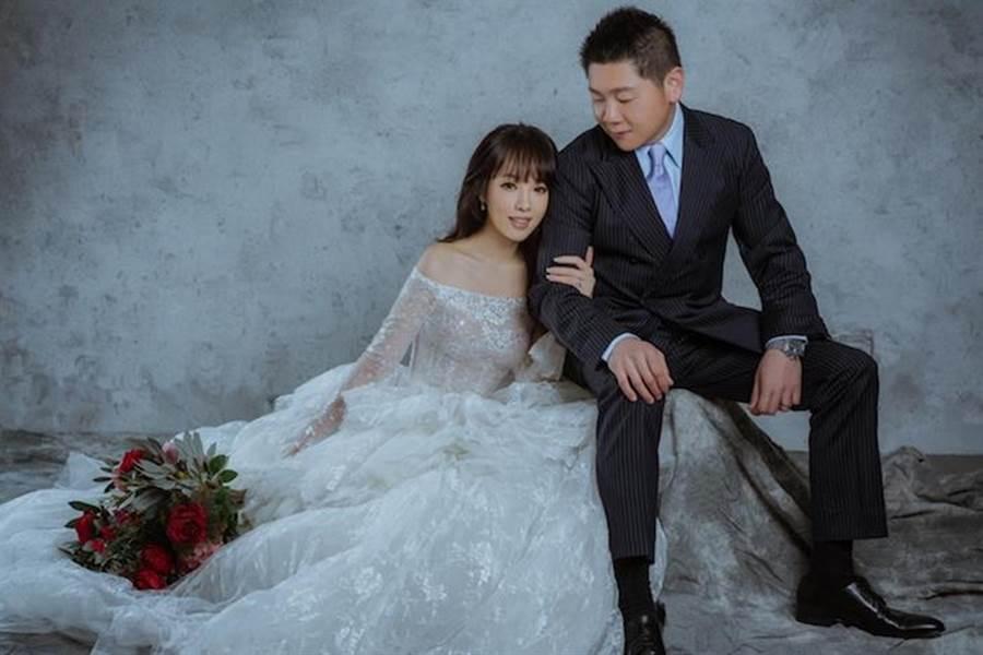 朱蕾安和老公婚紗照曝光。CH WEDDING提供