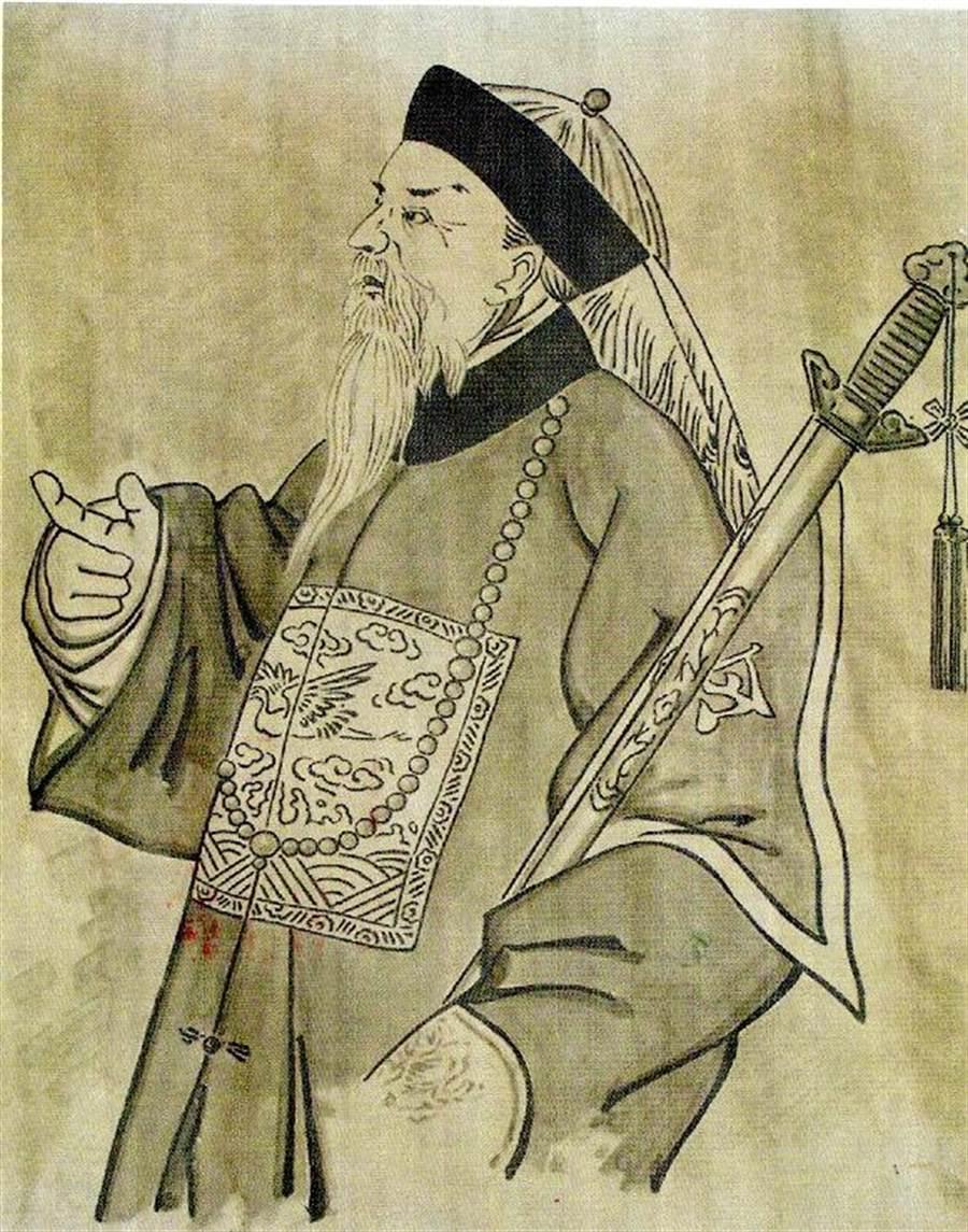 收存於河南「陳星聚紀念館」的陳星聚畫像。(中華河洛暨開漳聖王文化研究會提供)