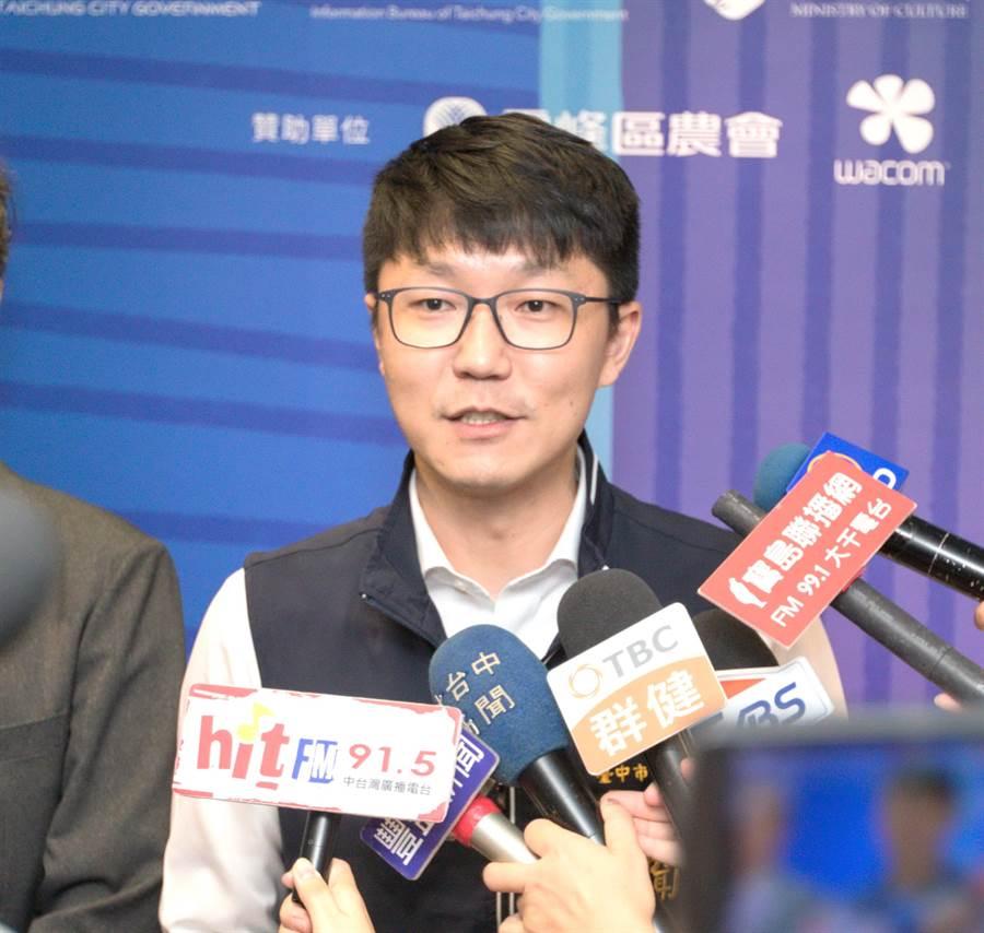 台中市新聞局長黃國瑋表示,市政成果會逐步顯現,希望市民有所感受,市府會更加倍努力,回應市民的期待,打造更好富市台中。(盧金足攝)