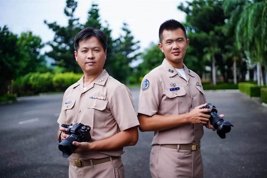 許明忠中校(左)。摘自海軍臉書