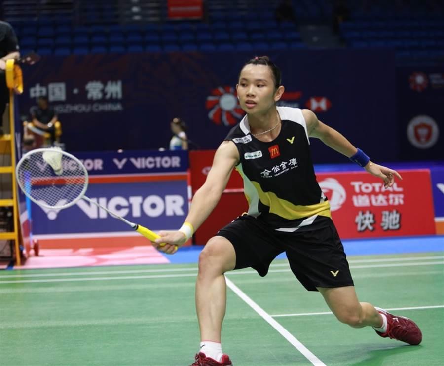 戴資穎在中國羽球公開賽女單第二輪獲勝,晉級8強。(勝利提供/陳筱琳傳真)