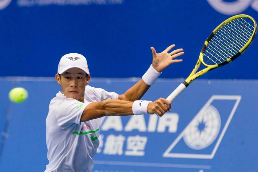 莊吉生在澳洲網球公開賽會外賽第一輪過關。(資料照/海碩整合行銷提供,陳筱琳傳真)