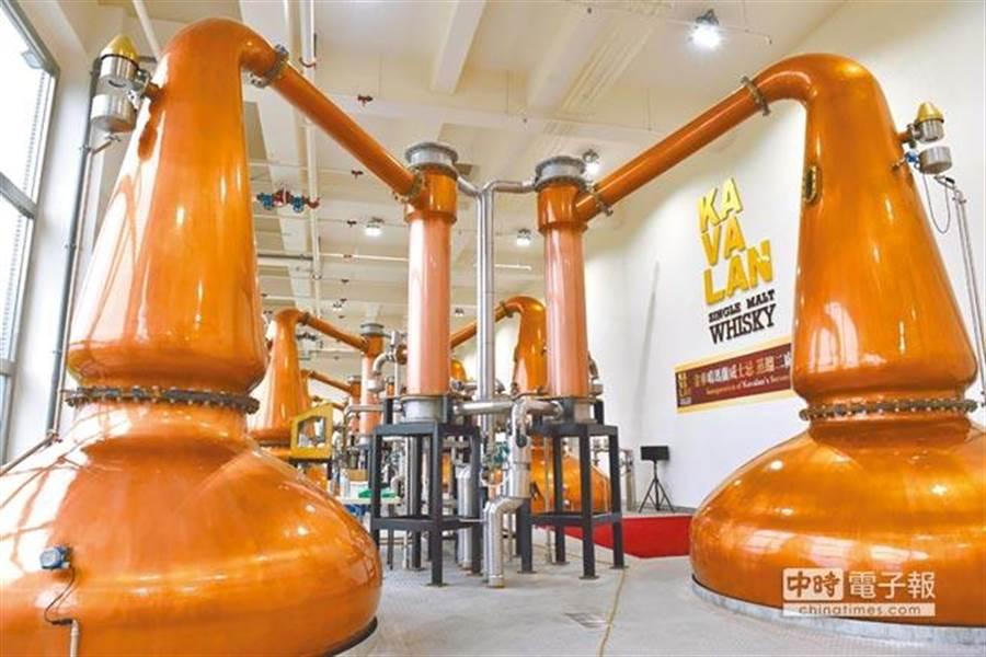 圖為噶瑪蘭酒廠位於宜蘭員山鄉的蒸餾二廠。(中時報系資料照片)