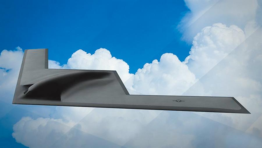 美軍B-21隱形轟炸機。(取自美國空軍官網)